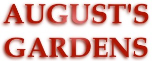 August's Gardens Title Text